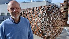 Heavy metal: Čestmír Suška transforms scrap tanks into gigantic, patterned sculptures
