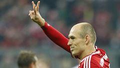 Schalke schytalo další výprask, kanonádu Bayernu řídil Robben