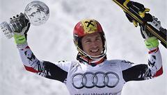 Rakušan Hirscher má po výhře v Lenzerheide i malý glóbus za slalom