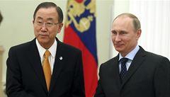 Rusko nechystá žádnou vojenskou operaci, slíbil Putin šéfovi OSN
