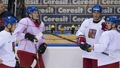 Hokejisté poprvé trénovali v Minsku. S Jágrem bude hrát Sobotka a Klepiš