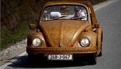 Bosenský penzista si vyrobil dřevěný Volkswagen