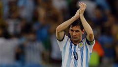 Musíme se zlepšit, byli jsme nervózní, hodnotil argentinský střelec Messi