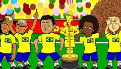 VIDEO: Fotbalový 'South Park'. Jaký dres má sudí a kdo pláče u hymny?
