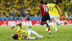 Neymar má zlomený obratel. Hvězdný útočník na mistrovství světa končí