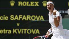 Kvitová zvládla české derby a je po třech letech ve finále Wimbledonu