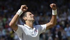 Djokovič vyzve ve finále Wimbledonu Federera, Češi v deblu nepostoupili