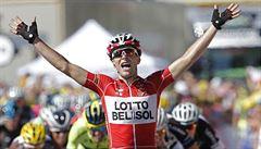Gallopin se dočkal prvního vítězství na Tour, žlutý trikot drží Nibali