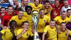 Třetí trofej za tři měsíce. Sparta slaví zisk Superpoháru