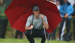 Golfista McIlroy vede na Open před posledním kolem o šest ran