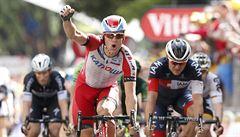 Spurt patnácté etapy vyhrál Nor Kristoff. Ve žlutém zůstává Nibali