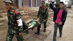 Nejméně 175 mrtvých po zemětřesení na jihu Číny