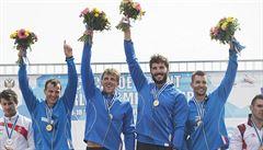 Český čtyřkajak má titul z kilometru, Fuksa bronz z pětistovky