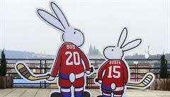 Bob a Bobek s hokejkou. Mistrovství světa v Česku má své maskoty