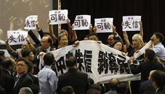 Napětí v Hongkongu: policie rozháněla prodemokratické aktivisty