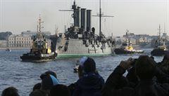 Legendární křižník Aurora po 27 letech opět vyplul na moře
