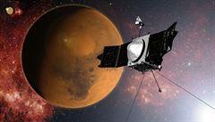 Americká sonda po deseti měsících dorazila na oběžnou dráhu Marsu