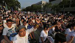 Chceme demokracii, bouří se hongkongští studenti proti Pekingu