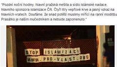 Prasečí krev na pražské mešitě. Islamská nadace o ničem neví, případ ale šetří policie