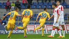 Slavia prohrála v Jihlavě, Boleslav i Bohemians si s chutí zastřílely