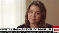 'Nechci zemřít, ale umírám.' Američanka zvolila smrt po boku nejbližších
