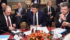 Putin a Porošenko spolu posnídali, na řešení krize se však neshodli