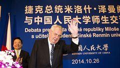 Zeman vzal Kellnera k čínskému prezidentovi. A vrátil se letounem s PPF