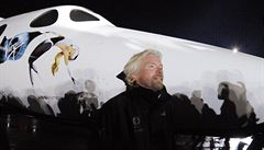 Miliardář Branson počítá s novou vesmírnou lodí v roce 2015