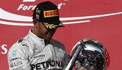 Hamilton si dojel v USA pro páté vítězství v řadě, Rosberg druhý