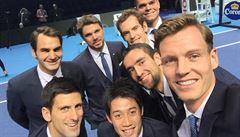 Smetánka z Turnaje mistrů. Berdych vyfotil nejlepší tenisovou selfie