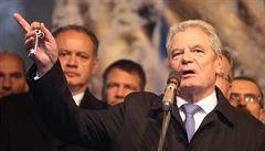 Hrad: Gauck dostal vajíčkem do spánku, byl otřesený. Ani si toho nevšiml, tvrdí Němci