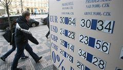 Koruna dál padá. Euro stálo ve směnárnách už 28,25 koruny