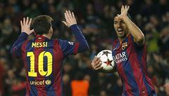 Messi, Neymar, Suárez. Barcelonské superhvězdy umí spolupracovat