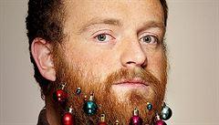Ozdoby do vousů, hipsterské Vánoce fascinují svět