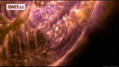 NASA zveřejnila video s úchvatnou sluneční erupcí