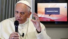 Svoboda slova je základní právo. Ale má své hranice, prohlásil papež