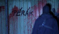 Složili byste hnůj v Terezíně? Ptá se Pérák, který pokreslil stěny vepřína v Letech