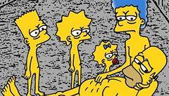 """Italský umělec """"poslal"""" Simpsonovy do koncentračního tábora"""