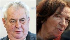 Věkový limit pro velvyslance je hloupost, zastal se Zeman Klausové