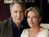 Alan Rickman a Emma Thompson v televizním filmu The Song of Lunch (2013).