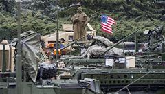 Americké tanky na východě Evropy mají zabránit dalšímu Krymu