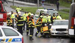 Nehoda na D1. U Ostředku ve směru na Brno byla dálnice hodinu uzavřená