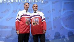 Pocta pro naganské šampiony. Hašek a Reichel vstoupili do Síně slávy IIHF