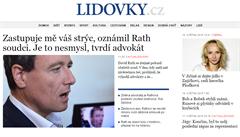 Zprávy podle editora: Lidovky.cz v novém, ruské manýry i Rathovy kličky