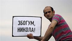Proti zkorumpované vládě. Stovky Makedonců dál okupují ulice Skopje