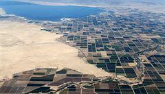 Zlatý důl ve vyprahlé Kalifornii. Roste poptávka po 'natěračích trávníků'