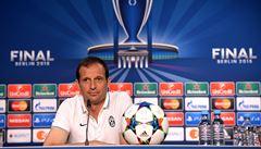 Lidi chtějí vidět, jak zvedneme pohár nad hlavy, říká trenér Juventusu