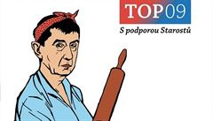 'Bába Andrej' sleduje, kolik vypiješ piv. TOP 09 rozjela kampaň proti pokladnám