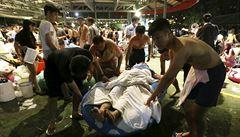 Hořící barevný prášek v tchajwanském akvaparku popálil přes 500 lidí