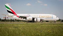 Z Prahy začal pravidelně létat do emirátů obří airbus A380
